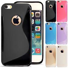 For iPhone SE 5 5S 5C 6 6S 7 8 Plus X XS XS Rubber Silicone Gel Phone Case Cover