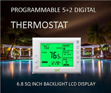 Digital Thermostat, 5+2 Day Programmable – Large Backlit LCD, 1H/1C Dual Power