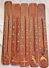 """Flat 10"""" Ash Catcher Incense Stick Holder Made In India 12 ASSORTED Dozen boxed"""