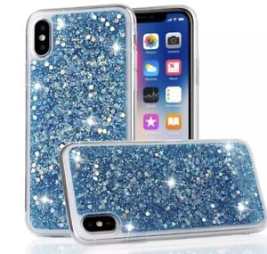 Luxury Glitter Sequins Shockproof Soft Silicone Case Cover fits iPhone's