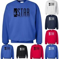 The Flash STAR LABORATORIES Star Labs Pullover Crew Neck Sweat Shirt  Jumper
