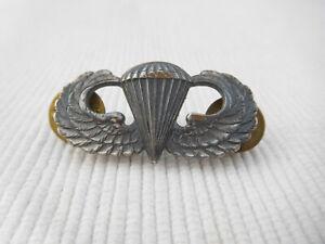 ANCIENNE MEDAILLE INSIGNE PARACHUTISTE PINS US USA CUIVRE ARGENTE KREW B783 LOT