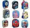 Kids Official TV Character Disney EVA 3D Effect School Bag Backpack Rucksack New