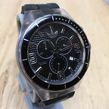 Adidas ADH2528 Mens Black Analog Quartz Chronograph Watch Hours~Date~New Battery