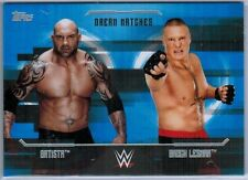BATISTA vs BROCK LESNAR 2017 Topps WWE UNDISPUTED DREAM MATCHES card D-9