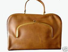 Bonnie Cashin COACH Briefcase Attache British Tan Kisslock NYC Pre Creed VTG
