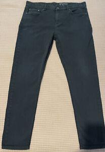 FCUK French Connection Mens Black Slim Denim Jeans Size 36