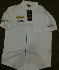 CFH Carpenter Chevrolet Racing Mens Executive Short Sleeve Shirt NWT Size Small