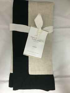 NEW Pottery Barn Belgian Flax Black Border Pillow Sham Cover Standard SOLD OUT!!