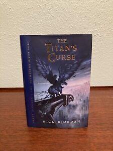 SIGNED/INSCRIBED Rick Riordan THE TITAN'S CURSE 1st/1st
