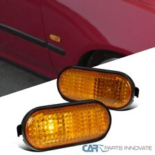 For 92-95 Honda Civic JDM Flat Fender Amber Side Markers Lights Signals Lamps