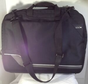 """Solo Fast Check 17""""X13""""X4.5"""" Laptop Travel Bag with Shoulder Strap - pre-owned"""