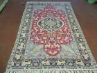 5' X 7' Antique Hand Made Fine Silk Turkish Rug Kayseri Carpet Lion Deer Nice
