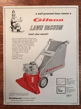 Vintage Gilson Brothers Co. Lawn Vacuum Outdoor Litter Advertising Brochure 1970