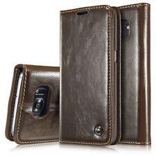 Handy Tasche Für Galaxy S7 S8 S9 Plus Flip Leder Case Schutz Hülle Wallet Cover
