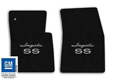 1961-1962 Chevrolet Impala SS - Black Velourtex Carpet Floor Mats - SS Logo