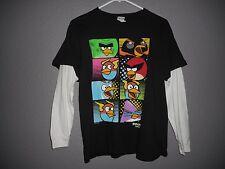 Angry Birds Youth Boys Long Sleeve Layered Look T-shirt Boy's  L  Multi-Black