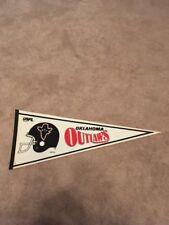 1982 USFL Oklahoma Outlaws Felt Pennant Football Full Size