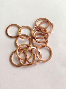 Copper Sealing washers - 14mm ID x 18mm OD x 1.5mm. Choose Quantity. M14