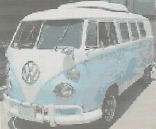 VW Camper Van contati Punto Croce Kit Completo