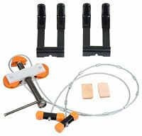 Portable Hand Held Bow Press and Quad Limb L Brackets Combo Archery Tool