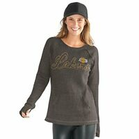 GIII For Her NBA Los Angeles Lakers Women's Off Season Pull Over, 2XL Gray