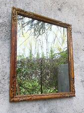 Miroir XIXème encadrement bois sculpté et stuc @