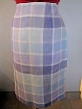 Paul Smith MAINLINE WOMENS SKIRT 100% LINEN CHECK LILAC BLUE IT 40; UK 8; USA 4