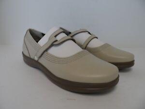 Apex Women's A302WM Y Strap Mary Jane Casual Shoe Bone Size 9.5M