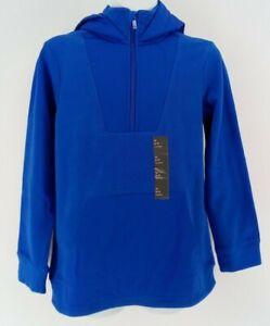 Boys Micro Fleece 1/4 Zip Pullover Hoodie Sweatshirt  All in Motion Blue M 8/10