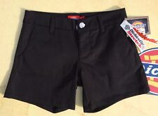 New DICKIES Girl Womens Stretch Shorts NHH6016 5IN Black Size 0