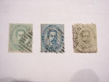 LOTTO REGNO ITALIA 3 FRANCOBOLLI 5 25 45 CENT. UMBERTO I 1879-1882 1à SERIE USAT
