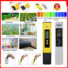 Digital PH Meter + LCD TDS EC Water Purity PPM Filter Hydroponic Pool Tester Pen