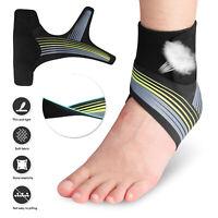 Compression Ankle Support Brace Socks Arch Running Plantar Fasciitis Sprain Foot