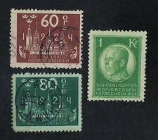 CKStamps: Sweden Stamps Collection Scott#207-209 Used