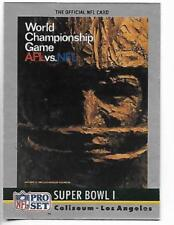 1990 Pro Set Super Bowl I poster card (Green Bay Packers 35, Chiefs 10)