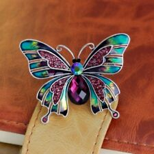 Silver Plated Crystal Rhinestone Colourful Enamel Butterfly Pin Brooch