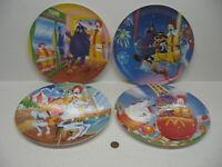 "McDonalds 1993 Set of 4 Amusement Theme Park Carnival Plates 9-1/2"""