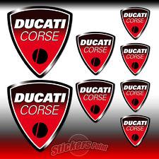8 Adesivi DUCATI CORSE stickers - old logo - all models - MOTO GP