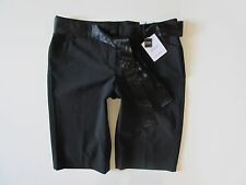 NWT Express The Editor City Short in Black Luxury Stretch Satin Belted Short 8