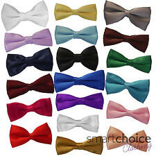 New Boys Kids Children's Elasticated Pre-Tied Satin Bow Ties Bow-ties