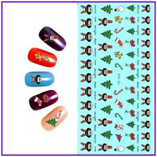 Christmas Nail Art Water Decals Transfers Stickers Trees Candy Cane (YE454)