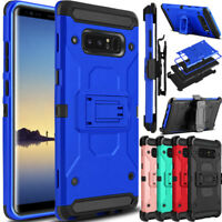 For Samsung Galaxy Note 8 Phone Case Shockproof Holster Clip Stand Rugged Cover