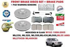 FOR MERCEDES M SERIES W163 + ML55 1998-> FRONT BRAKE DISCS SET + PADS + SENSORS