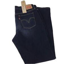 Levi 505 Women's Stretch Denim Jeans Size 16 NWT Midrise Straight Leg