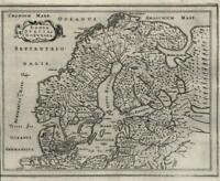 Scandinavia Sweden Norway Denmark Finland 1661 Jansson miniature map