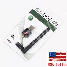 Mini 150M USB WiFi Wireless LAN Adapter 802.11 n/g/b Adapter With Antenna US
