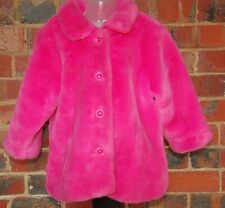 FRED BARE Pink Faux Fur Coat - Size 4 - EUC