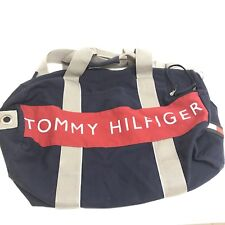 Tommy Hilfiger Large Gym Duffle Bag Vintage 90's Flag Spell Out Box Logo Travel