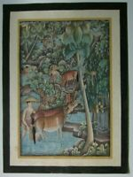 Signed IDA BAGUS WARTA Watercolor & Ink Paint, Batuan, Bali, Indonesia
